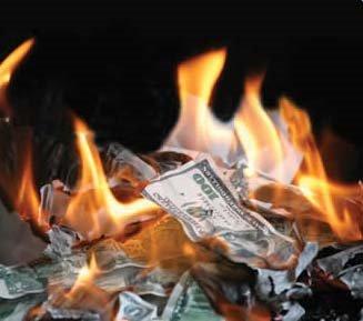 Bani in foc